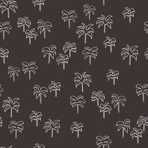 palm tree fabric - summer 2020, muted colors - sfx1111 coffee