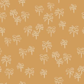 palm tree fabric - summer 2020, muted colors - sfx1144 oak leaf