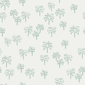 palm tree fabric - summer 2020, muted colors - sfx5815 rainforest