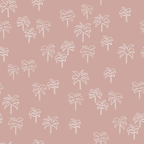 palm tree fabric - summer 2020, muted colors - sfx1512 rose
