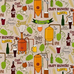 Craft brewery (small scale/light taupe background)