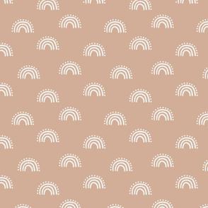 sunset rainbow fabric - earth tones muted boho fabric - sfx1213 almond