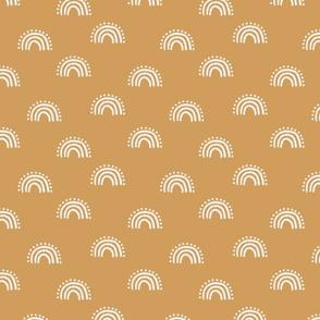 sunset rainbow fabric - earth tones muted boho fabric - sfx1144 oak leaf