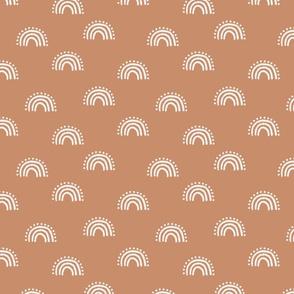 sunset rainbow fabric - earth tones muted boho fabric - sfx1328 sandstone