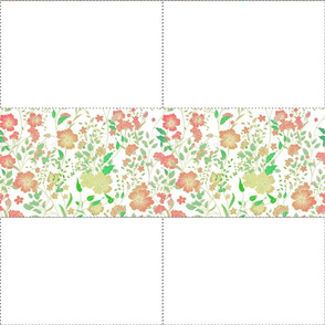 Vintage Floral Print Fabric Mask Template