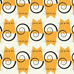 cats - figaro cat orange - geometric cats