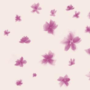 Watercolor purple petals