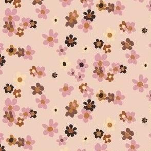 Ditsy Caramel Pink Floral