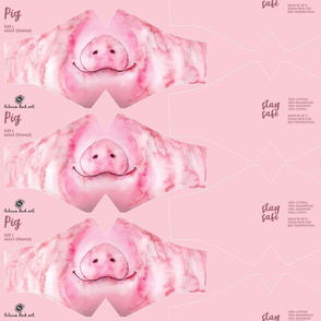 L Pig Face Mask - adult (female/teenager) size - face masks, masks, facemask