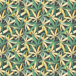 Teal Gold Hemp Foliage
