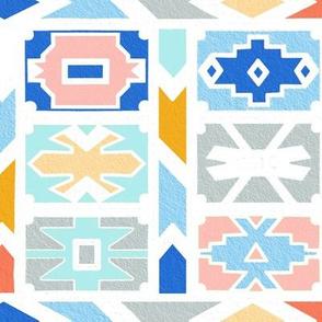 Pastel Ndebele Block Pattern