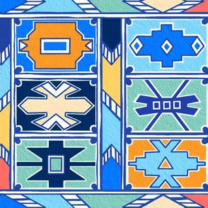 Colorful Ndebele Pattern