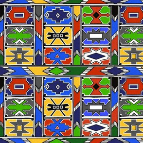 Classic African Ndebele Pattern