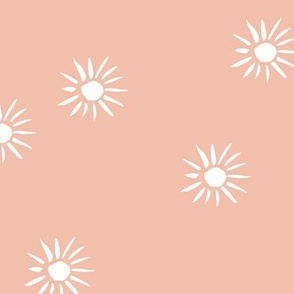 Sunshine and boho sun love day baby design boho summer nursery coral white