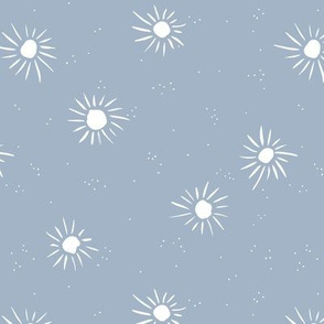 Sunshine and sparkle sweet sunny day baby design boho summer nursery blue white