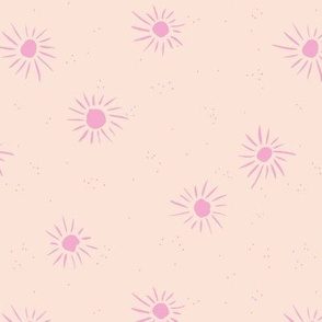 Sunshine and sparkle sweet sunny day baby design boho summer nursery creme pink