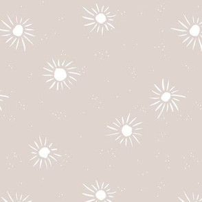 Sunshine and sparkle sweet sunny day baby design boho summer nursery soft gray white