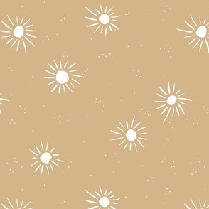 Sunshine and sparkle sweet sunny day baby design boho summer nursery ginger yellow white