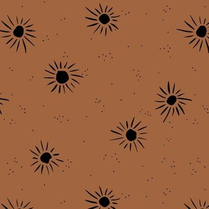 Sunshine and sparkle sweet sunny day baby design boho summer nursery rust copper black