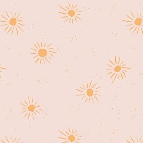 Sunshine and sparkle sweet sunny day baby design boho summer nursery beige honey yellow