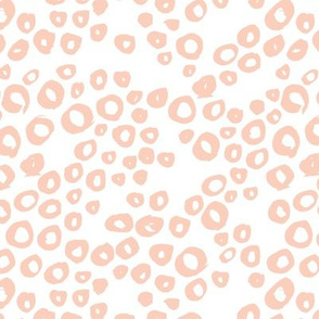 Little bubbles abstract ocean theme boho minimal water circles coral on white