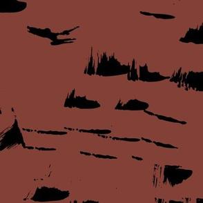 Messy marble abstract textures earthy boho style scandinavian nursery dark maroon chocolate