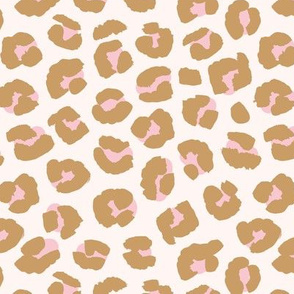 Inky texture leopard print boho summer animals print nursery trend cinnamon pink blush
