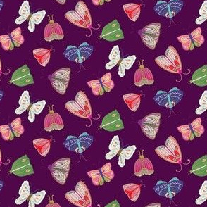 Purple Ditsy Butterflies