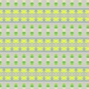 Green and Yellow Leaf Ribbons -1350