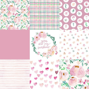 sweet times springtime blush cheater quilt