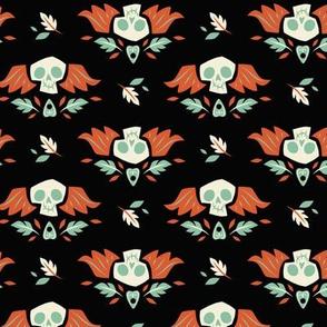 Graveyard Skulls (Large & Orange)