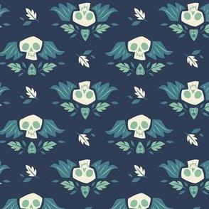 Graveyard Skulls (Large & Blue)