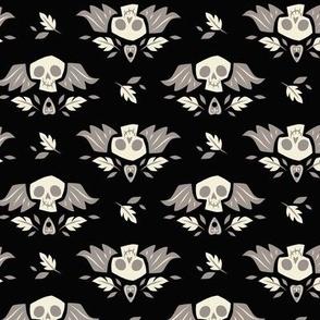 Graveyard Skulls (Large & Black)