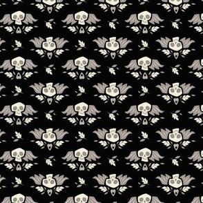 Graveyard Skulls (Small & Black)