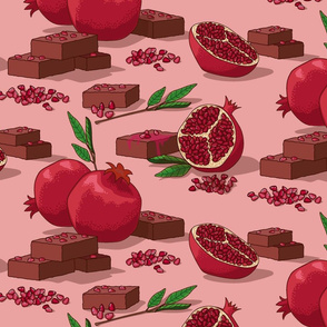 Pomegranate Brownies
