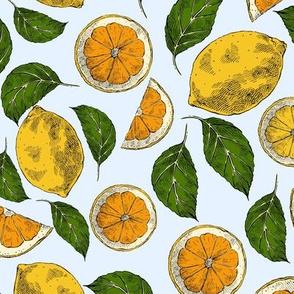 Blue Sky Oranges