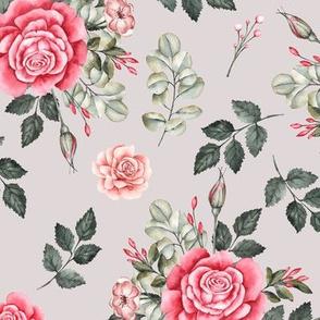 Vintage Roses Grey