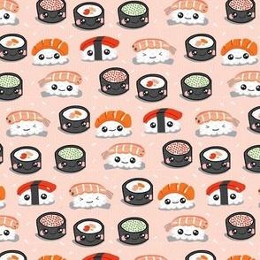 Kawaii Sushi Smaller on Salmon Hex
