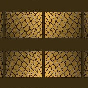 PA_33348_C Feather Pattern of Scalloped Edge C