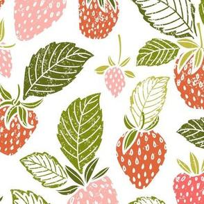 Sweet Spring Summer Strawberries by Angel Gerardo - Large Scale