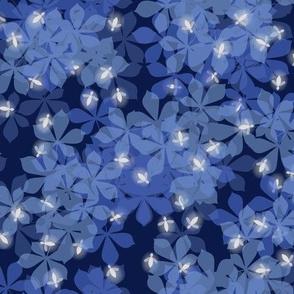 fireflies in blue gray