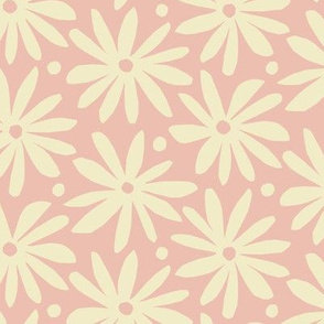 pink and cream daisy flower