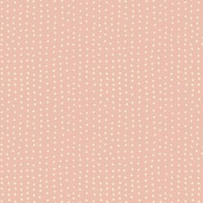 dot pink and cream