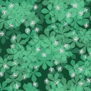 fireflies on green
