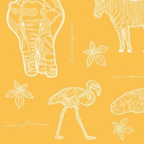 Safari LOVE & LIVE_White on yellow