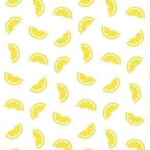 lemon slices on white :: fruity fun