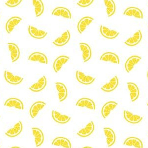lemons on white :: fruity fun slices