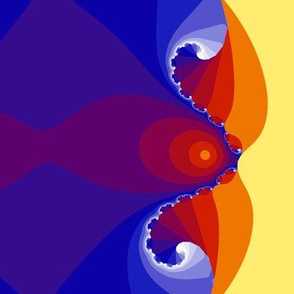 Fractal Groovy Fish Slurping Lemonade- bright version