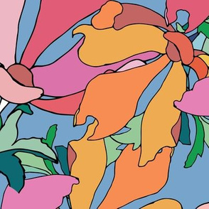 Colorful hippie floral abstraction