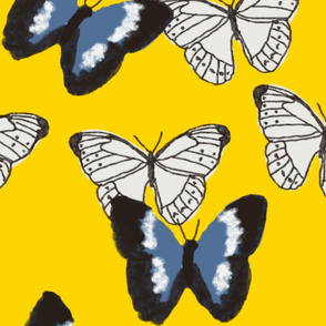 Butterfly pattern - Cyber Yellow